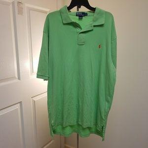 Polo Ralph Lauren green polo shirt size Large Tall